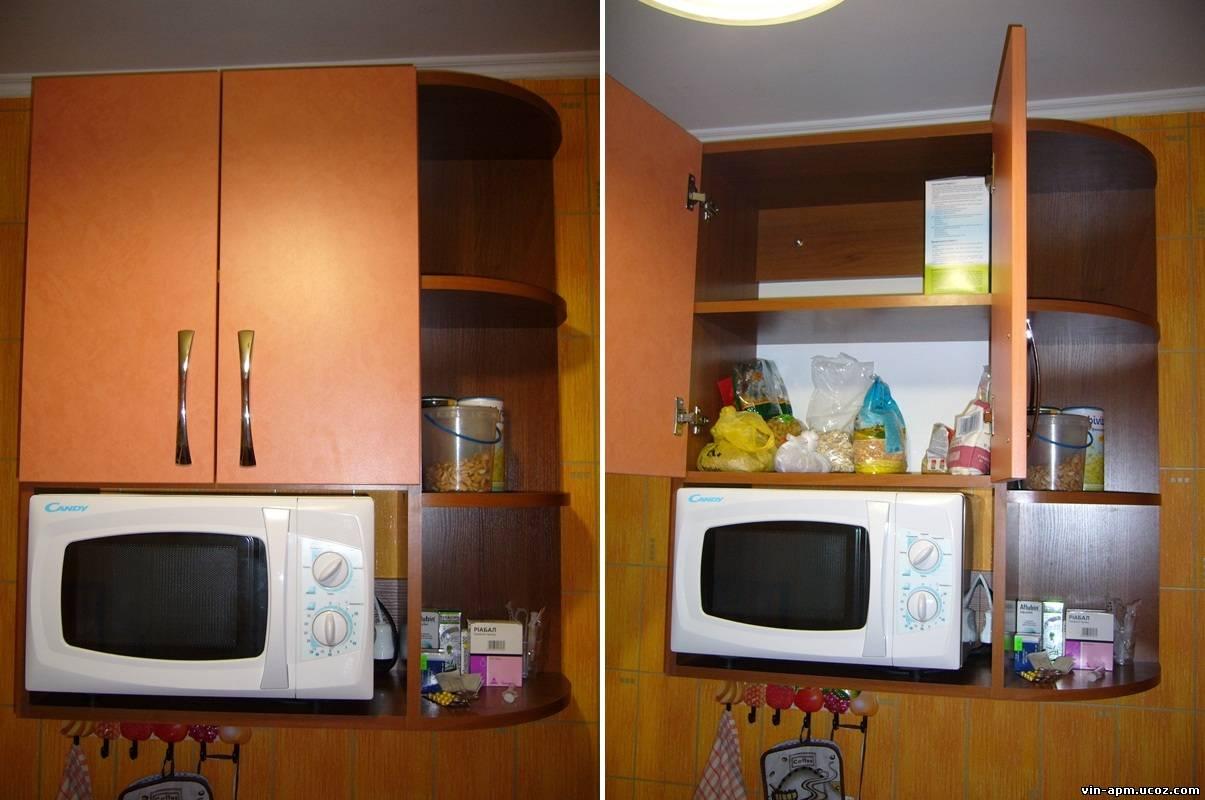 Навесной шкаф на кухню своими руками 68